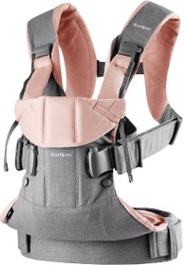 BabyBjorn Baby Carrier One - Grey/Power Pink