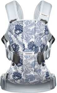 BabyBjorn Baby Carrier One - Pale Blue/Leaf Print