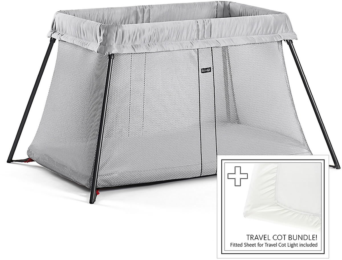Baby Bjorn Travel Crib Light Bundle - Silver