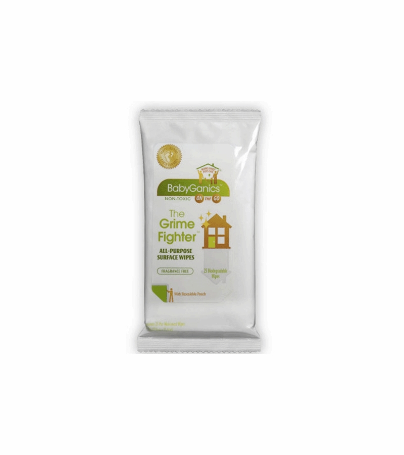 BabyGanics All Purpose Surface Wipes - 25 ct On-the-Go pack