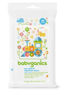 BabyGanics Toy, Table & Highchair Wipes, 25ct. - Fragrance Free