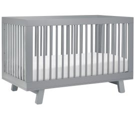 Babyletto Hudson 3-in-1 Convertible Crib with Toddler Bed Conversion Kit - Grey Finish