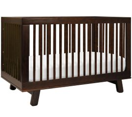 Babyletto Hudson 3-in-1 Convertible Crib with Toddler Bed Conversion Kit - Espresso Finish