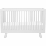 Babyletto Hudson 3-in-1 Convertible Crib with Toddler Bed Conversion Kit - White Finish