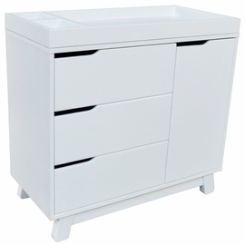 Babyletto Hudson 3-Drawer Changer Dresser, KD w/Removable Changing Tray In White