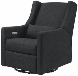Babyletto Kiwi Electronic Recliner & Swivel Glider - Coal Grey