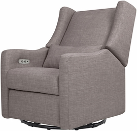 BabyLetto Kiwi Electronic Recliner & Swivel Glider - Grey Tweed