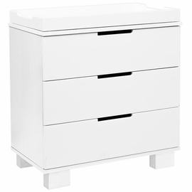 Babyletto Modo 3-Drawer Changer Dresser, KD w/Removable Changing Tray in White