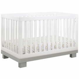 Babyletto Modo 3-in-1 Convertible Crib with Toddler Bed Conversion Kit in Grey and White