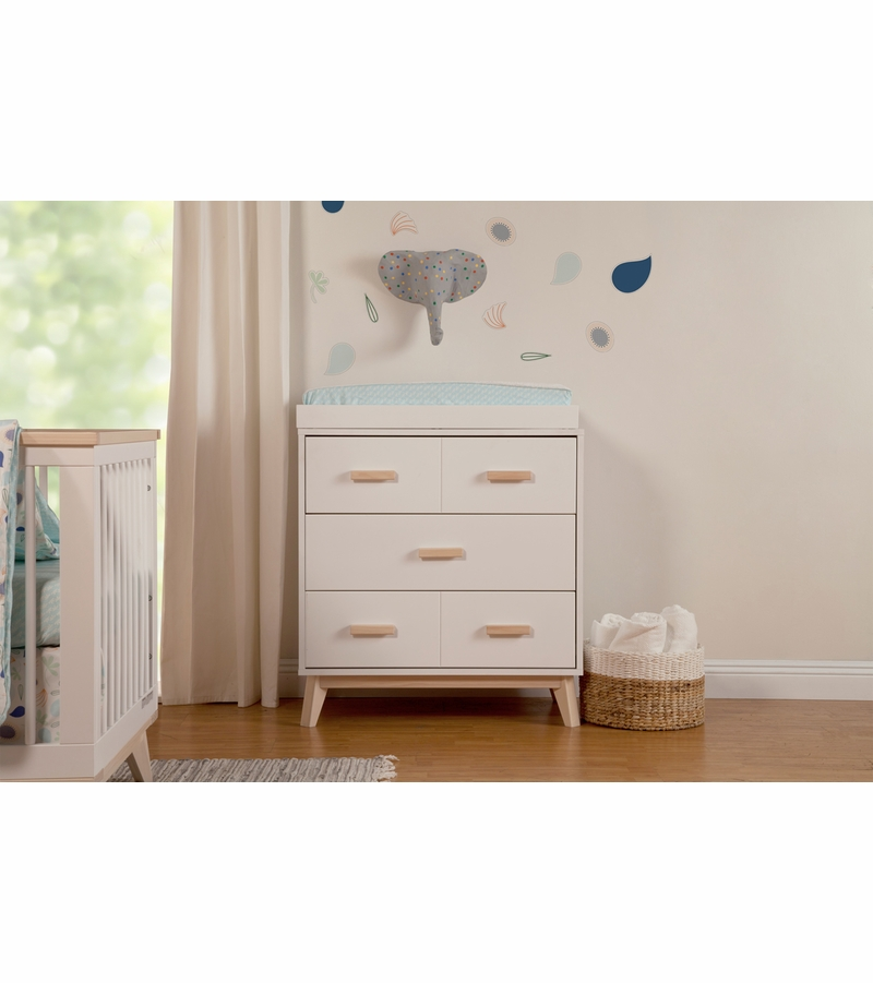 Babyletto Scoot 3 Drawer Changer Dresser White Washed