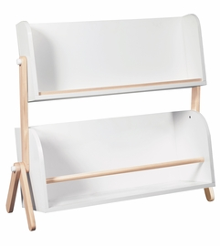 BabyLetto Tally Storage and Bookshelf In White and Washed Natural Finish