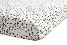 Babyletto Tuxedo Monochrome Arrows Fitted Crib Sheet