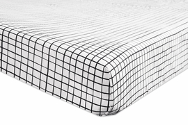 Babyletto Tuxedo Monochrome Grid Fitted Crib Sheet