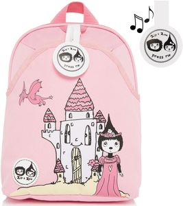 Babymel Mini Kid Backpack + Safety Harness - Daisy Dragon Castle