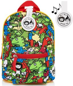 Babymel Mini Kid Backpack + Safety Harness - Dino Multi