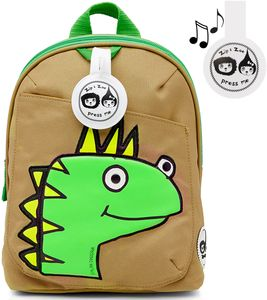 Babymel Mini Kid Backpack + Safety Harness - Dylan Dino Face