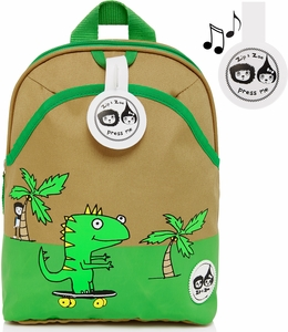 Babymel Mini Kid Backpack + Safety Harness - Dylan Dino Palm