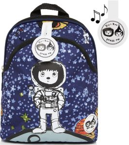 Babymel Mini Kid Backpack + Safety Harness - Spacemen