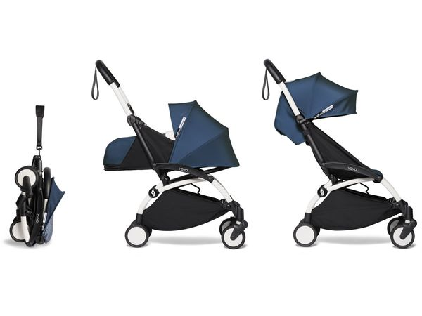 Babyzen YOYO2 Ultra Compact Complete 0+/6+ Stroller - White / Air France Blue