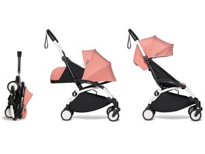 Babyzen YOYO2 Ultra Compact Complete 0+/6+ Stroller - White / Ginger