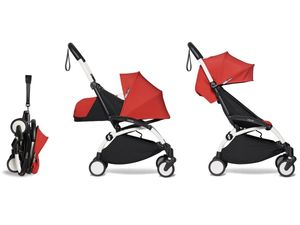 Babyzen YOYO2 Ultra Compact Complete 0+/6+ Stroller - White / Red