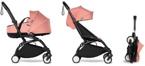 Babyzen YOYO2 Ultra Compact Complete 6+ Stroller with Bassinet - Black/Ginger