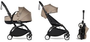 Babyzen YOYO2 Ultra Compact Complete 6+ Stroller with Bassinet - Black/Taupe