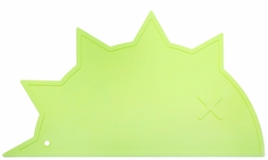 BamBamBoom Non-Slip Silicone Placemat - Hedgehog-Dino Green