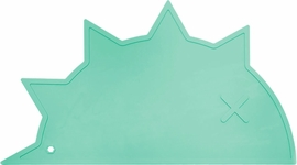 BamBamBoom Non-Slip Silicone Placemat - Hedgehog-Dino Mint