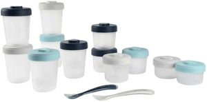 Beaba Baby Food Clip Containers Set of 12 + Spoons - Rain