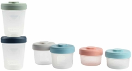Beaba Baby Food Clip Containers Set of 6 - Medium
