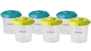 Beaba Clip Containers 7oz, Set of 6 - Peacock