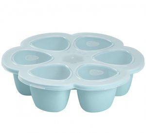 Beaba Multiportions 3oz Silicone Tray - Sky