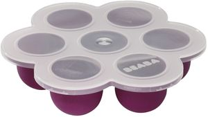 Beaba Multiportions Freezer Tray in Plum