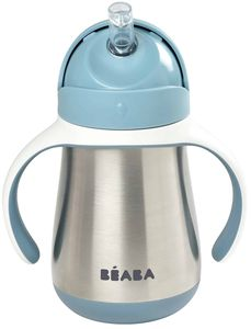 Beaba Stainless Steel Straw Sippy Cup - Rain