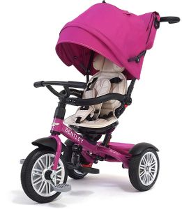 Bentley 6-in-1 Baby Stroller / Kids Trike - Fuchsia Pink