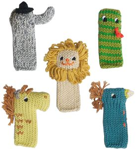 Blabla Kids Finger Puppets, Set of 5 - Jungle