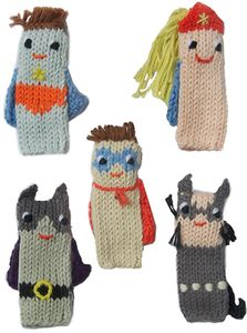 Blabla Kids Finger Puppets, Set of 5 - Super Hero