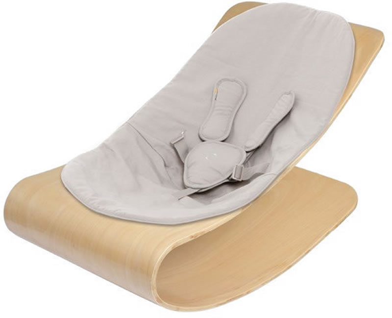 640c2ca559b1 Bloom Coco Stylewood Baby Lounger - Natural Frost Grey