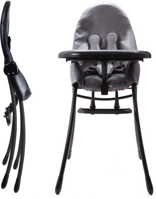 Bloom Nano Urban High Chair In Black/grey