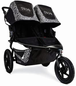 BOB 2020 Revolution Flex 3.0 Duallie Double Jogging Stroller - Lunar Black