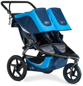 BOB 2019 Revolution Flex 3.0 Duallie Double Jogging Stroller - Glacier Blue