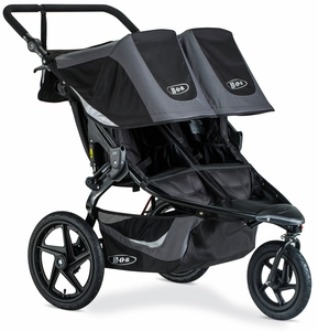 BOB 2019 Revolution Flex 3.0 Duallie Double Jogging Stroller - Graphite Black