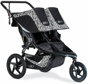 BOB 2019 Revolution Flex 3.0 Duallie Double Jogging Stroller - Lunar Black