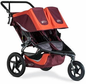 BOB 2019 Revolution Flex 3.0 Duallie Double Jogging Stroller - Sedona Orange