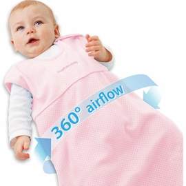 Breathable Baby Body Breathe Wearable Blanket in Pink-Small