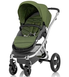 Britax Affinity Complete Stroller, Silver - Cactus Green
