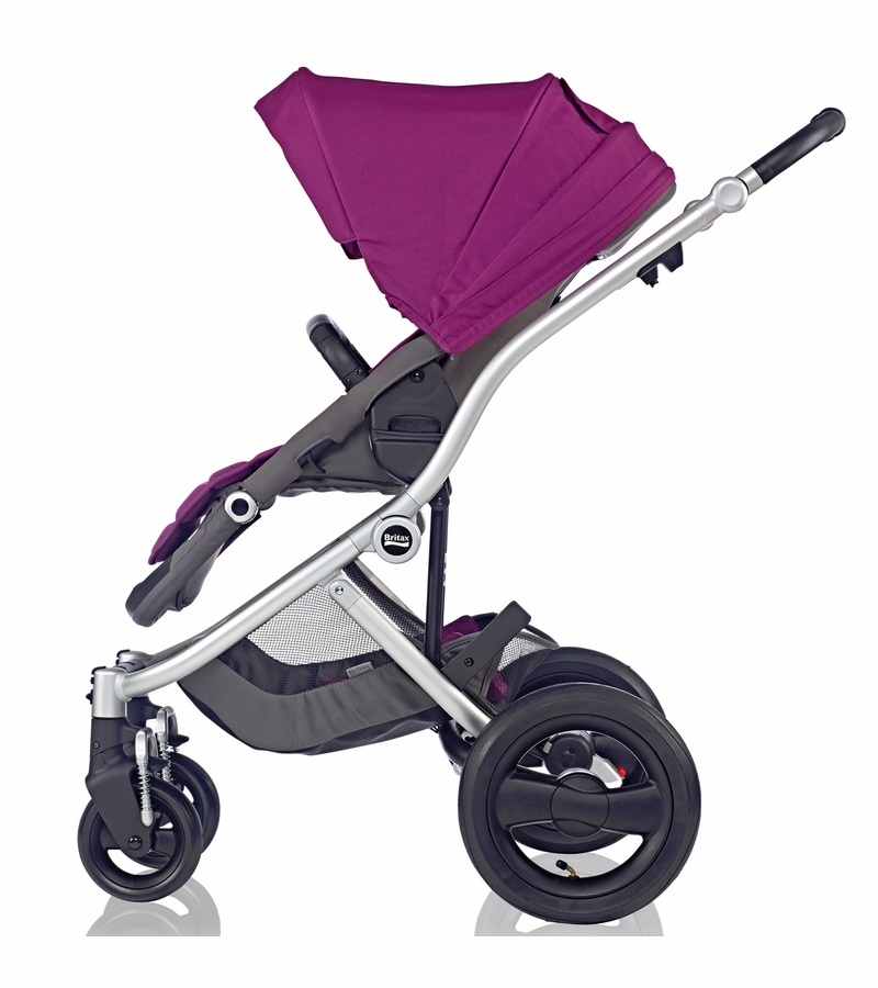 Britax Affinity Complete Stroller Silver Cool Berry