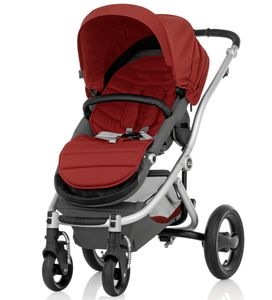 Britax Affinity Complete Stroller, Silver - Red Pepper