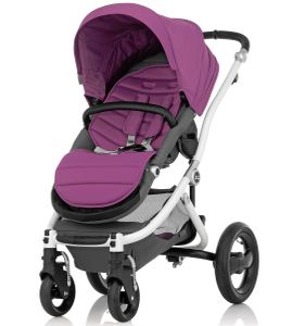Britax Affinity Complete Stroller, White - Cool Berry